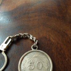 Vintage: LLAVERO CON MONEDA MEJICANA DE PLATA 925. Lote 165831384