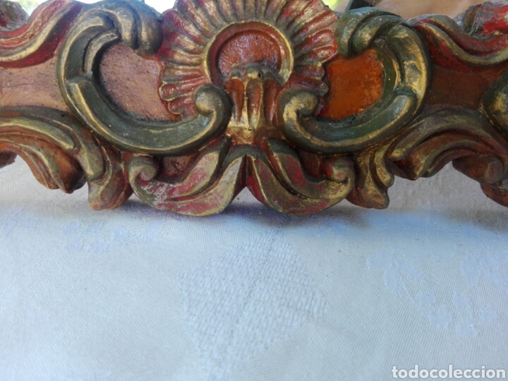 Vintage: Espejo de resina estilo barroco con policromia al pan de oro - Foto 6 - 165927416