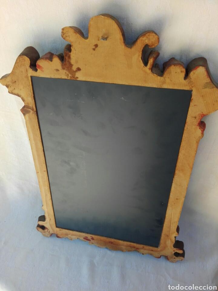 Vintage: Espejo de resina estilo barroco con policromia al pan de oro - Foto 8 - 165927416