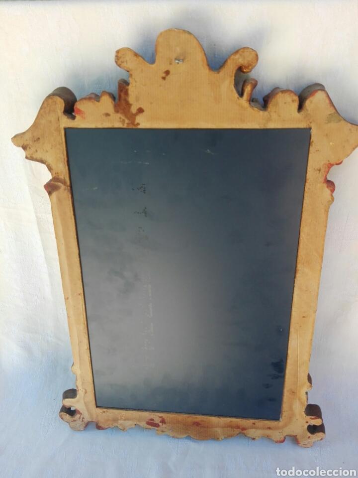 Vintage: Espejo de resina estilo barroco con policromia al pan de oro - Foto 9 - 165927416