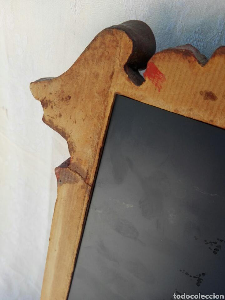 Vintage: Espejo de resina estilo barroco con policromia al pan de oro - Foto 10 - 165927416