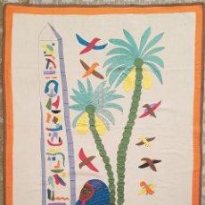 Vintage: TAPIZ NAIF MOTIVOS EGIPCIOS. Lote 165995362