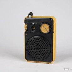 Vintage: RADIO TRANSISTOR AM PHILIPS AMARILLO NEGRO VINTAGE RETRO SPACE AGE 70'S. Lote 166408726