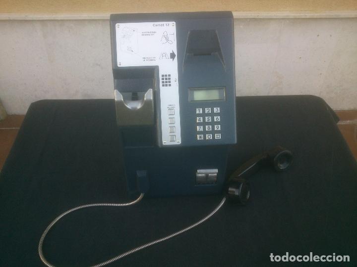 Vintage: ANTIGUO Y ORIGINAL TELEFONO PUBLICO ESPAÑOL DE MONEDAS - Foto 2 - 166815102