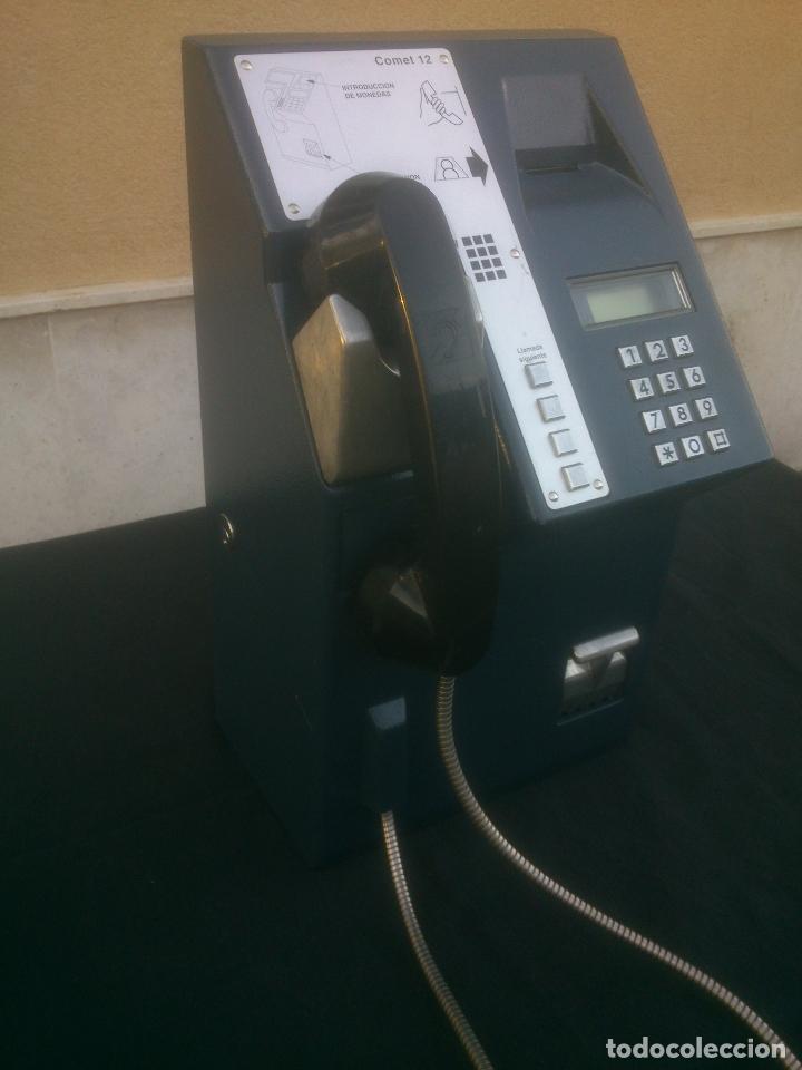 Vintage: ANTIGUO Y ORIGINAL TELEFONO PUBLICO ESPAÑOL DE MONEDAS - Foto 3 - 166815102