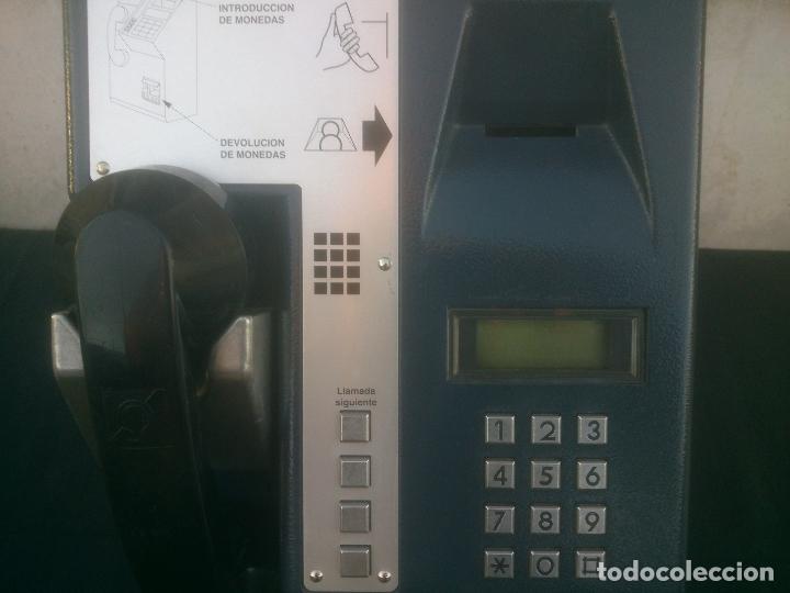Vintage: ANTIGUO Y ORIGINAL TELEFONO PUBLICO ESPAÑOL DE MONEDAS - Foto 7 - 166815102