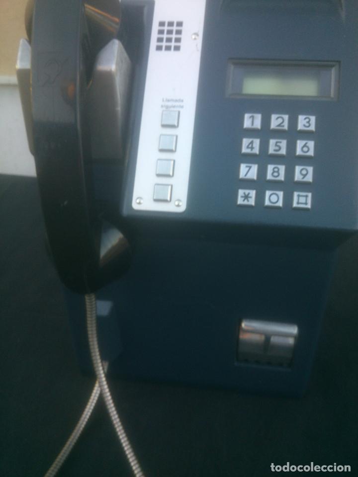 Vintage: ANTIGUO Y ORIGINAL TELEFONO PUBLICO ESPAÑOL DE MONEDAS - Foto 8 - 166815102