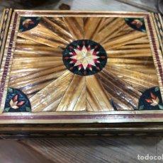 Vintage: BONITA CAJA REALIZADA A MANO DE TARACEA - MEDIDA 15,5X11,5 Y 5,5 CM DE ALTO. Lote 166917808