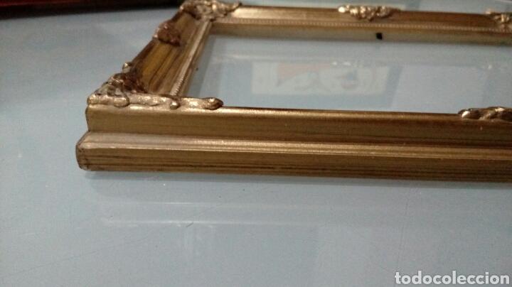 Vintage: Marco dorado de madera - Foto 3 - 167851046