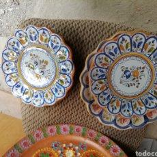 Vintage: JUEGO PLATOS CERÁMICA. LOTE DE 3 PLATOS. TALAVERA. Lote 168207845