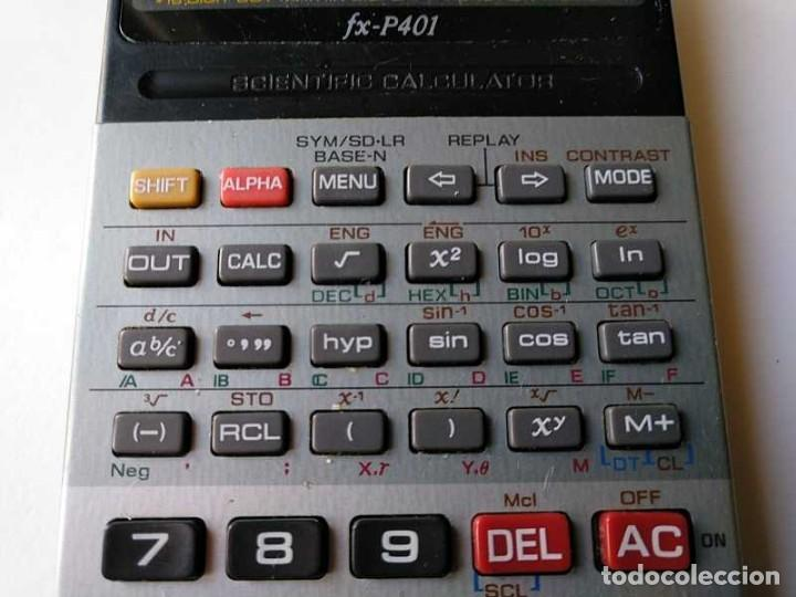 Vintage: CALCULADORA CASIO FX-P401 SCIENTIFIC CALCULATOR 16 DIGIT DOT MATRIX DISPLAY CIENTIFICA - Foto 5 - 168575632