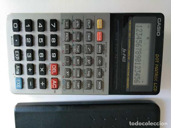 Vintage: CALCULADORA CASIO FX-P401 SCIENTIFIC CALCULATOR 16 DIGIT DOT MATRIX DISPLAY CIENTIFICA - Foto 17 - 168575632