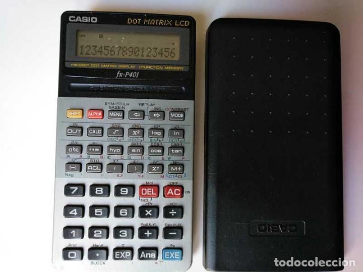Vintage: CALCULADORA CASIO FX-P401 SCIENTIFIC CALCULATOR 16 DIGIT DOT MATRIX DISPLAY CIENTIFICA - Foto 19 - 168575632