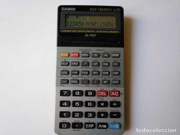 Vintage: CALCULADORA CASIO FX-P401 SCIENTIFIC CALCULATOR 16 DIGIT DOT MATRIX DISPLAY CIENTIFICA - Foto 25 - 168575632