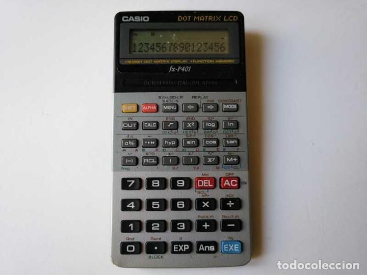 Vintage: CALCULADORA CASIO FX-P401 SCIENTIFIC CALCULATOR 16 DIGIT DOT MATRIX DISPLAY CIENTIFICA - Foto 26 - 168575632