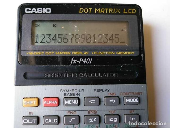 Vintage: CALCULADORA CASIO FX-P401 SCIENTIFIC CALCULATOR 16 DIGIT DOT MATRIX DISPLAY CIENTIFICA - Foto 27 - 168575632