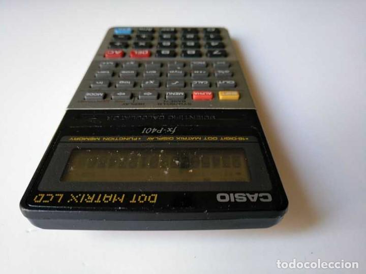 Vintage: CALCULADORA CASIO FX-P401 SCIENTIFIC CALCULATOR 16 DIGIT DOT MATRIX DISPLAY CIENTIFICA - Foto 43 - 168575632