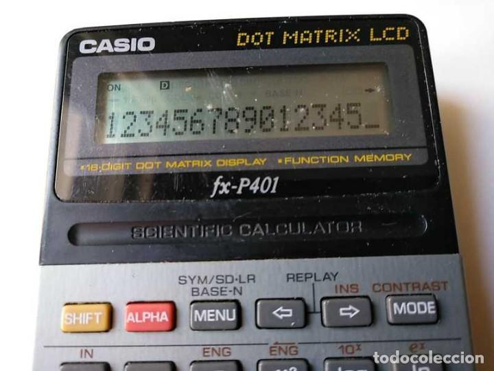 Vintage: CALCULADORA CASIO FX-P401 SCIENTIFIC CALCULATOR 16 DIGIT DOT MATRIX DISPLAY CIENTIFICA - Foto 47 - 168575632