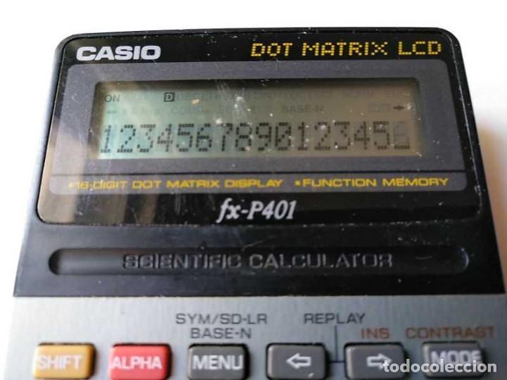 Vintage: CALCULADORA CASIO FX-P401 SCIENTIFIC CALCULATOR 16 DIGIT DOT MATRIX DISPLAY CIENTIFICA - Foto 48 - 168575632