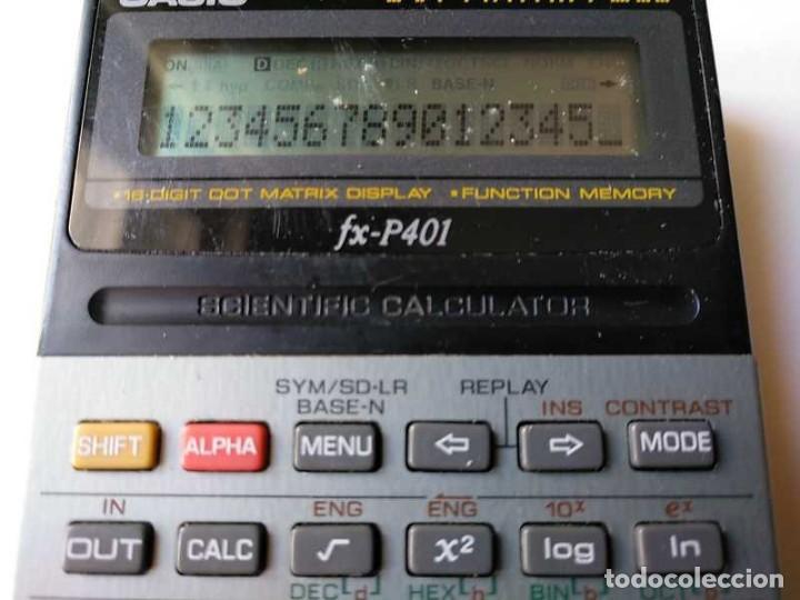 Vintage: CALCULADORA CASIO FX-P401 SCIENTIFIC CALCULATOR 16 DIGIT DOT MATRIX DISPLAY CIENTIFICA - Foto 49 - 168575632