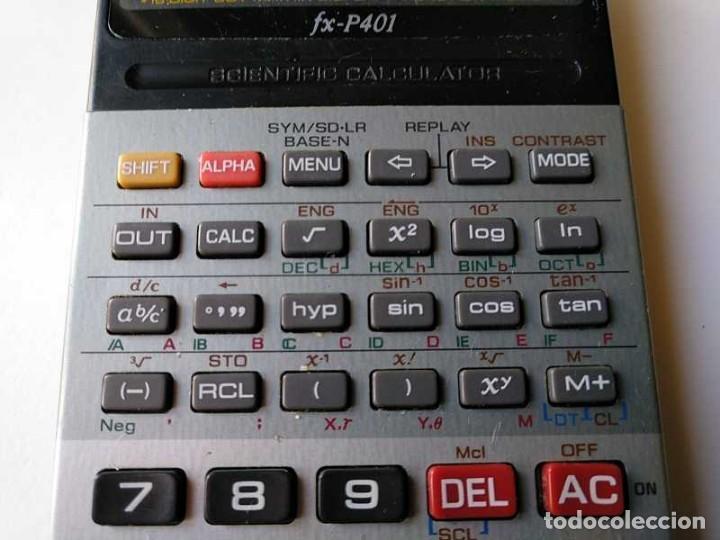 Vintage: CALCULADORA CASIO FX-P401 SCIENTIFIC CALCULATOR 16 DIGIT DOT MATRIX DISPLAY CIENTIFICA - Foto 50 - 168575632