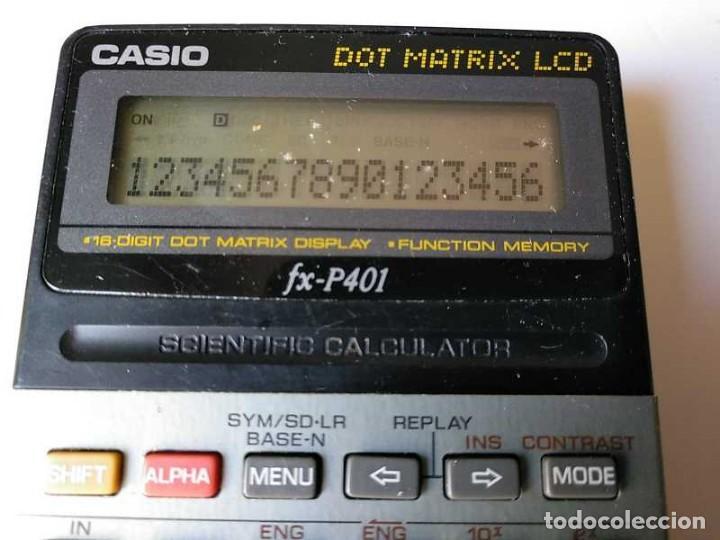 Vintage: CALCULADORA CASIO FX-P401 SCIENTIFIC CALCULATOR 16 DIGIT DOT MATRIX DISPLAY CIENTIFICA - Foto 53 - 168575632