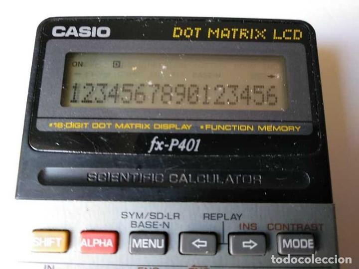 Vintage: CALCULADORA CASIO FX-P401 SCIENTIFIC CALCULATOR 16 DIGIT DOT MATRIX DISPLAY CIENTIFICA - Foto 54 - 168575632