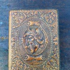 Vintage: CAJA PITILLERA CUERO REPUJADO. Lote 168609660