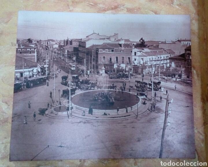 FOTOGRAFÍA SOBRE TELA PLAZA DE CUATRO CAMINOS DE MADRID (Vintage - Decoración - Varios)