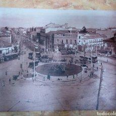 Vintage: FOTOGRAFÍA SOBRE TELA PLAZA DE CUATRO CAMINOS DE MADRID. Lote 168746746