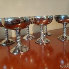 Vintage: 6 COPAS PLATEADAS PARA HELADO O CAVA. Lote 169082900