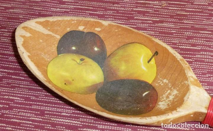 Vintage: Antigua - Percha de madera en forma de cuchara para cocina. - Foto 2 - 169243116