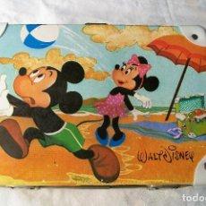 Vintage: MALETA INFANTIL MICKEY Y MINNIE MOUSE AÑOS 70 MIKER. Lote 169413344