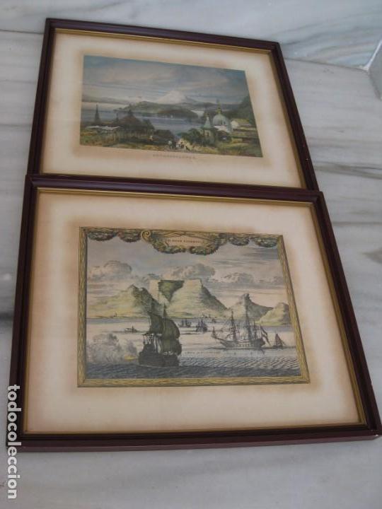 Vintage: Antiguos marcos con cristal y laminas papel. - Foto 8 - 169454456