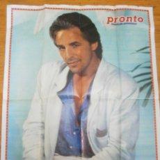Vintage: MAXI POSTER DON JOHNSON CORRUPCION EN MIAMI ESTEFANIA DE MONACO REVISTA PRONTO. Lote 169982161