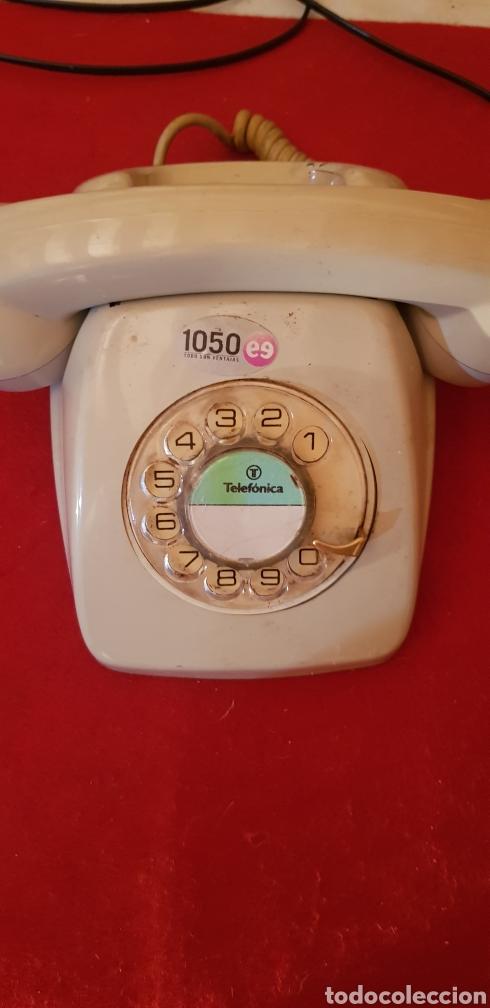 TELEFONO HERALDO DE TELEFONICA ESPAÑA CTNE AÑOS 70 COLOR AZUL VERDE LIMPIO FUNCIONA (Vintage - Varios)