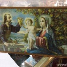 Vintage: LAMINA RELIGIOSA ANTIGUA VIRGEN MARIA NIÑO JESUS. Lote 170207993