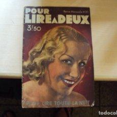 Vintage: POUR LIREA DEUX REVISTA EROTICA FRANCESA. Lote 170428256