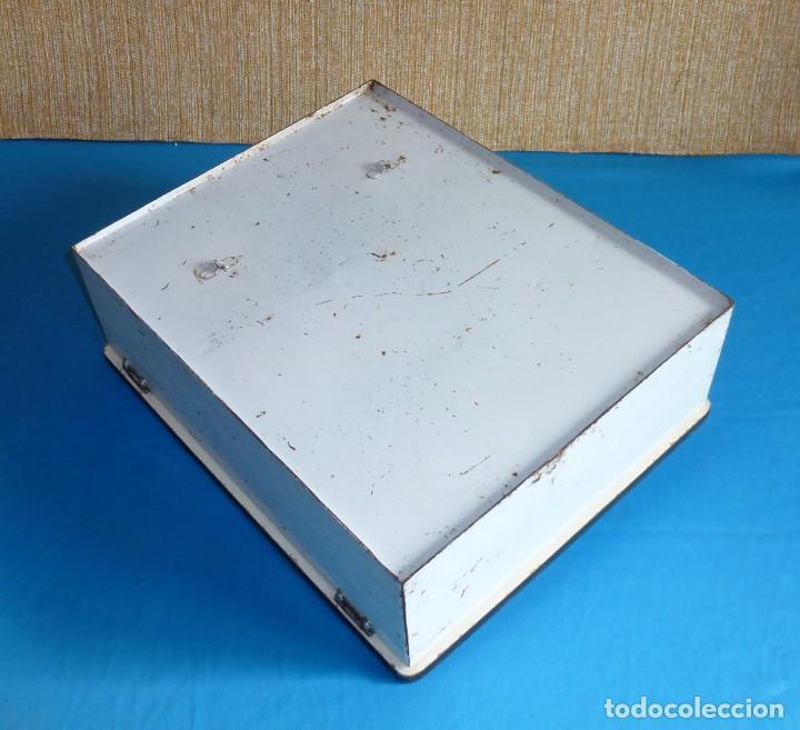 Vintage: Armario de baño botiquin metalico y madera. - Foto 9 - 170573124