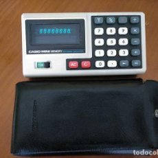 Vintage: ANTIGUA CALCULADORA CASIO MINI MEMORY ELECTRONIC CALCULATOR AÑOS 70 CON SU FUNDA. Lote 170850035