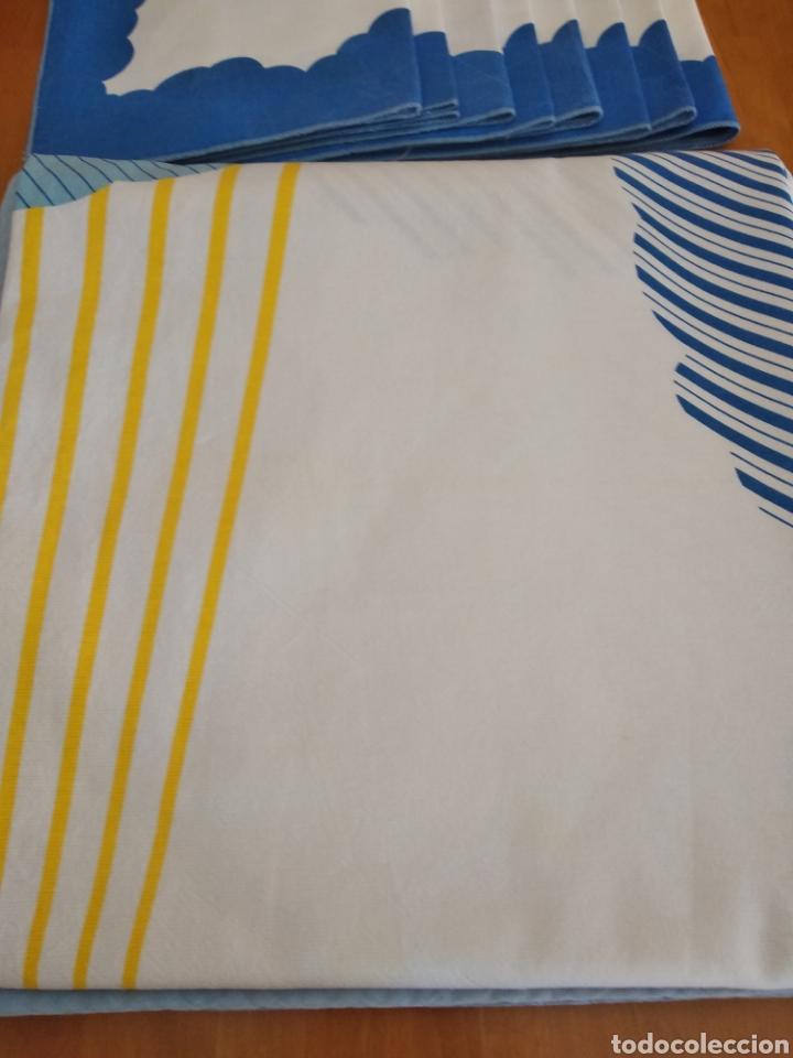 Vintage: Manteleria de puro algodón con 8 servicios. Nueva - Foto 2 - 170946057