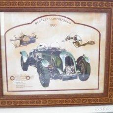 Vintage: CUADRODE COCHE BENTEY COMPRESSEUR 1930. Lote 171531034