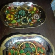 Vintage: BANDEJAS MADERA PINTADA.. Lote 171545489