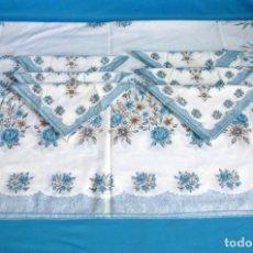 Vintage: MANTEL Y 6 SERVILLETAS VINTAGE.. Lote 172022108