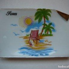 Vintage: BANDEJA CENICERO RECUERDO DE ROSES. VINTAGE, RETRO. MADE IN SPAIN. PICART S.A.. Lote 172183404