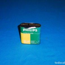 Vintage: PILA DE PETACA - PHILIPS - LONGLIFE.4.5 V.. Lote 172258628