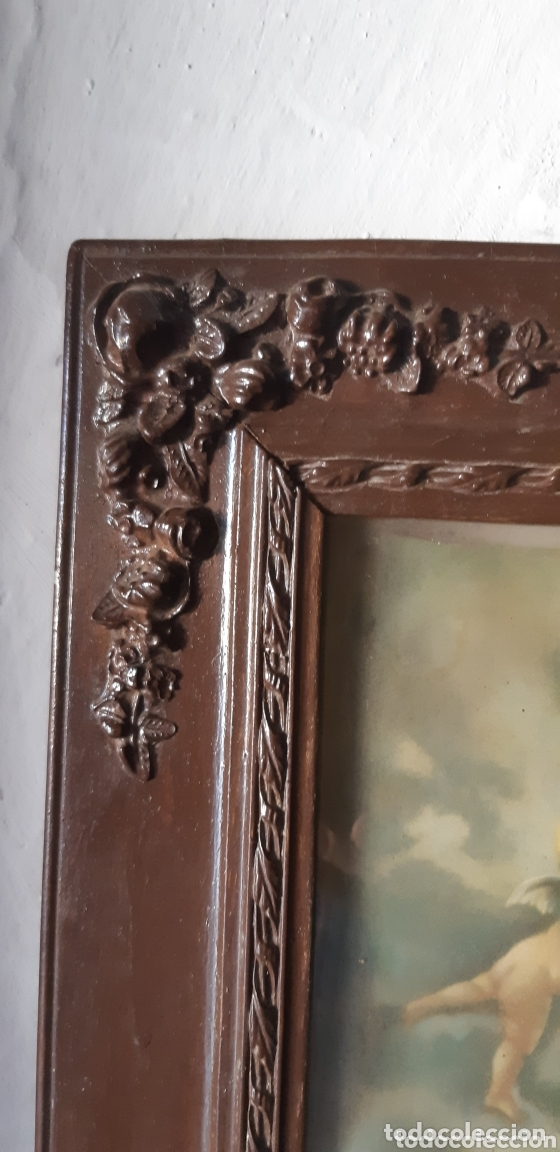 Vintage: Lámina muy antigua con motivos religiosos - Foto 2 - 172423413