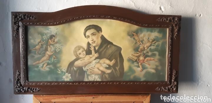 LÁMINA MUY ANTIGUA CON MOTIVOS RELIGIOSOS (Vintage - Varios)
