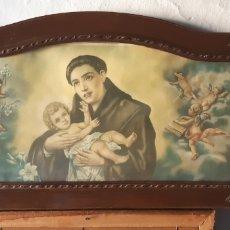 Vintage: LÁMINA MUY ANTIGUA CON MOTIVOS RELIGIOSOS. Lote 172423413
