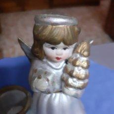 Vintage: FIGURA/ANGELITO PORTAVELAS.- MIDE ALTO 9,30X8,00 ANCHO. Lote 172637903